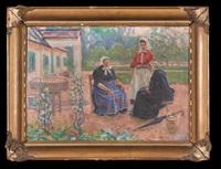 kobiety przed dworem by gustaw pillati
