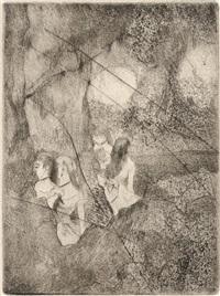danseuses dans les coulisses by edgar degas