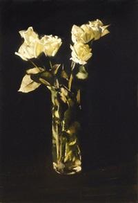 white roses by tibor csernus