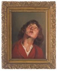 hombre con bata roja (estudio) by ignacio alcérreca y comonfort