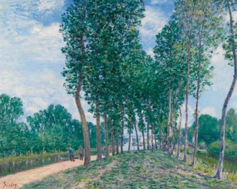 bords du loing près de moret by alfred sisley
