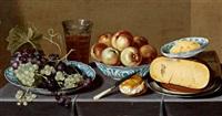 stillleben mit trauben, apfeln und käse by hans van sant