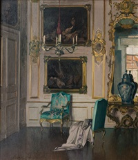 interior of a castle by paul walter ehrhardt