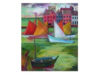 sailing boats, brittany by alison baily rehfisch