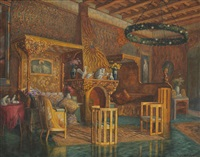 gold room of the queen mary by hans aescher