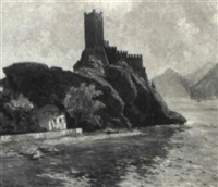 castle on the rhine by albert reich