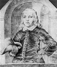 portrait de jeune homme by cornelis visscher