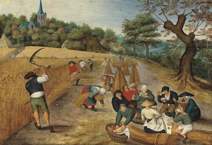 summer: the harvesters by pieter brueghel the younger