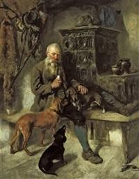 jäger mit seinen hunden by max correggio