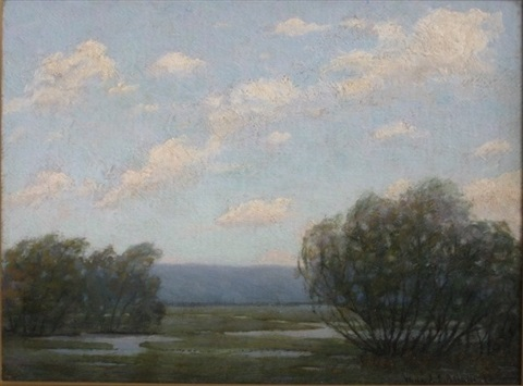 summer landscape by willard e allen
