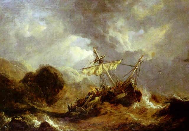 navaire dans la tempête by henry milbourne