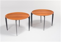 pair of collapsible occasional tables (model no. 4508) by engholm & willumsen