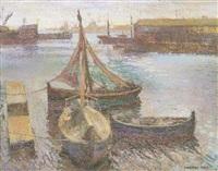 barcas amarradas en el puerto by guillem rodríguez puig