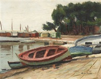 punts in arcachon port by paul scortesco