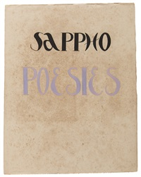 sappho, poesies, fontenay-aux-roses (bk w/15 illus. and calligraphy by labusquière, in cardboard slipcase) by alexandra exter