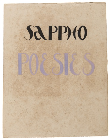 sappho poesies fontenay aux roses bk w15 illus and calligraphy by labusquière in cardboard slipcase by alexandra exter