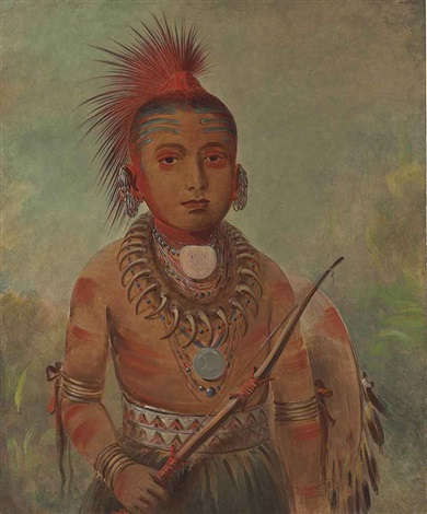commanding general, a boy (wa-ta-we-buck-a-na) by george catlin