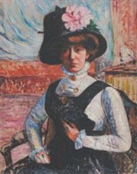 portrait au chapeau by georgette agutte