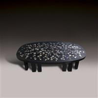 table basse à plateau en résine rectangulaire by etienne allemeersch