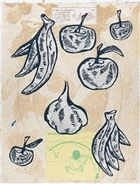 fruits (portfolio of 5) by donald baechler