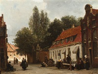 street scene by johannes bosboom