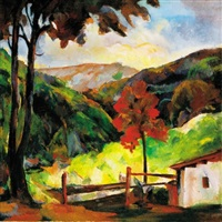 nagybányai táj (nagybánya landscape) by lajos fono