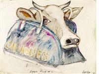 aggie head #2 by robert arneson