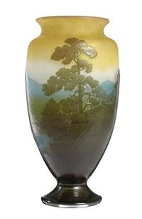 landscape vase by émile gallé