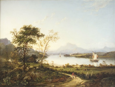 a view of elcho castle by charlotte nasmyth