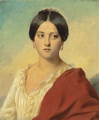 portrait of an italian girl by franz xaver winterhalter