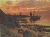 bateaux près de la côte by emile cambiaggio