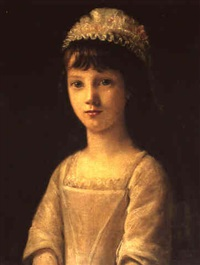 portrait of a young girl by john camillus hone
