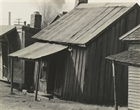 houses in negro quarter of tupelo, mississippi by walker evans