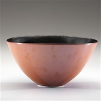 bronze and black wood-fired bowl by gwyn hanssen pigott