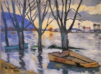 inondations : les andelys, eure by rené sautin