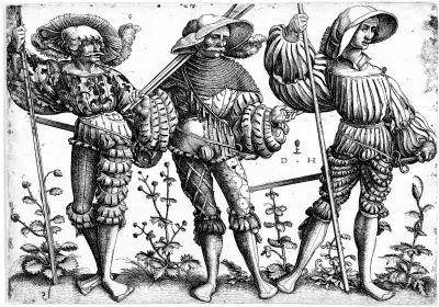 drei landsknechte i by daniel hopfer