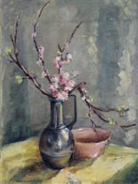 still life with blossoms by bettie cilliers-barnard