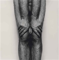 self portrait (legs and hands, thumbs together) sp6185 by john coplans