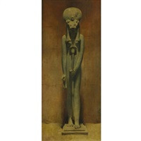 standing sekhmet, karnak by joseph lindon smith