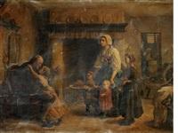 la fete de grandpere by jules breton