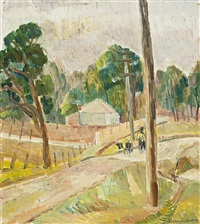 landscape at lake macquarie by grace cossington smith