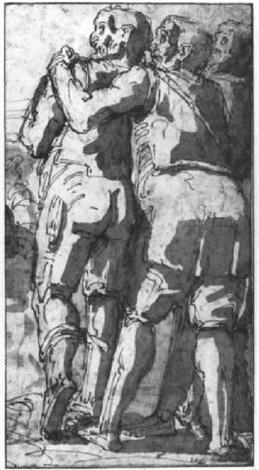 zwei männliche rückenfiguren by giulio benso