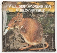 portrait of smoking mouse,