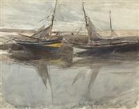 moored boats by giovanni boldini