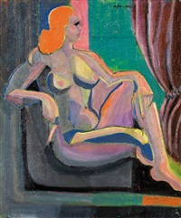 femme assise by andré fougeron