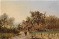 kleine landschaft mit hütte by george gillis van haanen