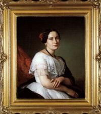 artist's sister portrait by josef simmler