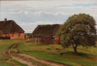 summer day at a danish farm by hans ludvig smidth