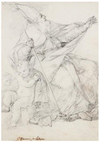 saint jean de latran (study) by anicet charles gabriel lemonnier