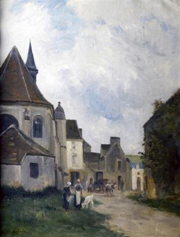 rue de village en pays de caux by stanislas lépine